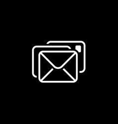 Correspondence icon flat design vector