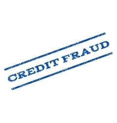 Credit fraud watermark stamp vector
