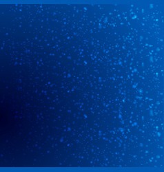 dark blue shiny bokeh particles background vector image vector image