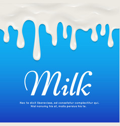 Dripping white yogurt milk cream seamless vector image