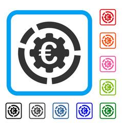 Euro diagram configuration framed icon vector