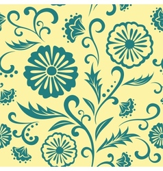 Floral ornate seamless pattern vector