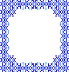 Frame blue patterns on canvas vector image