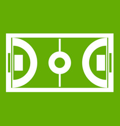 Futsal or indoor soccer field icon green vector