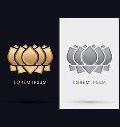 Gold abstract lotus vector