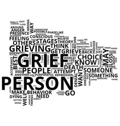 Grief loss text background word cloud concept vector