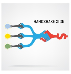 Handshake abstract sign design vector image
