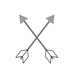 Indian arrow isolated icon vector