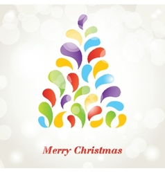 Merry Christmas and Happy New Year 2015 vector image