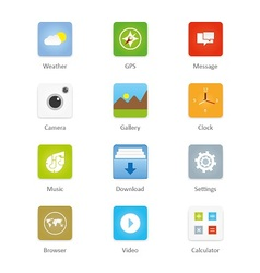 Mobile and tablet app icons 2 vector