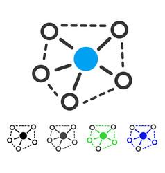Molecule links flat icon vector