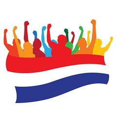 Netherlands fans vector image