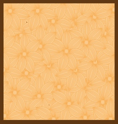 Orange flower background vector
