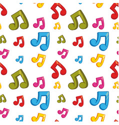 seamless background design with colorful music vector image vector image