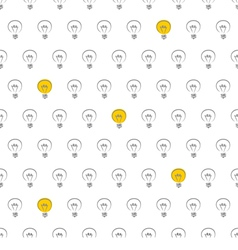 Seamless light bulb pattern texture or background vector image vector image