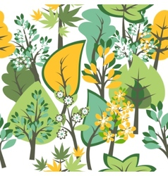 seamless pattern with trees vector image