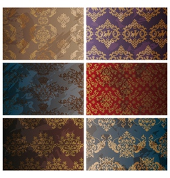 set of abstract seamless vintage background vector image