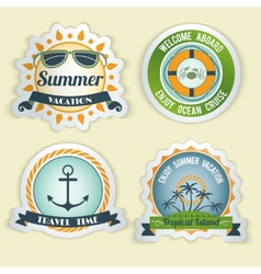 Summer sea emblems vector image