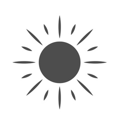 Sun icon Symbol sunrise isolated vector image vector image
