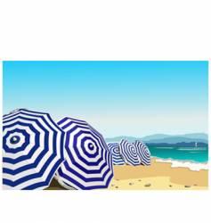 umbrella in the beach vector image vector image