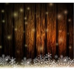 Vintage christmas wood background vector