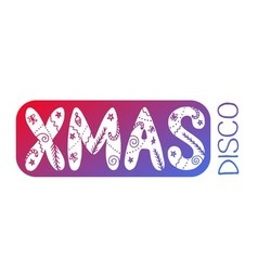 Xmas disco card vector