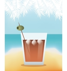 Cocktail tequila lime poster vector