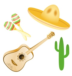 set of various Mexican images EPS10 vector image