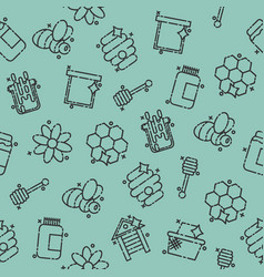 Apiary icons pattern vector