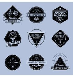 hipster emblems vector image