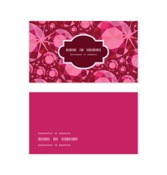 Ruby horizontal frame pattern business cards set vector