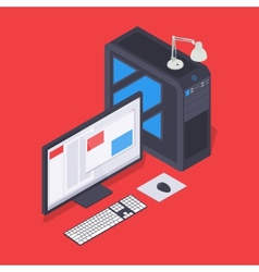 Isometric personal computer vector