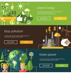 Set of ecological flat modern vector
