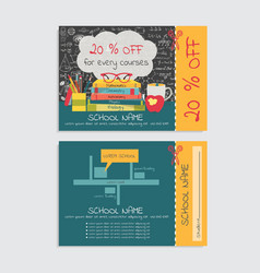 school voucher vector image
