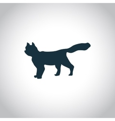 Cat simple icon vector