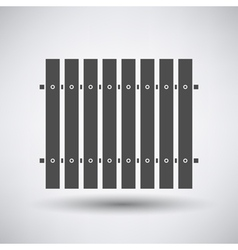 Construction fence icon vector
