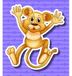 Little lion cub with happy face vector image