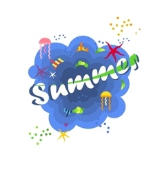 Bright summer poster vector