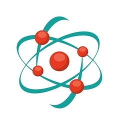 Molecular structure isolated icon design vector