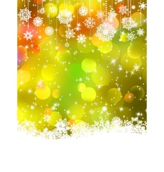 Abstract orange winter background EPS 8 vector image vector image