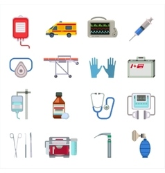 Ambulance icons set vector image