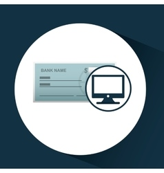 Bank check template icon graphic vector