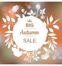 Big Autumn Sale Banner vector image vector image