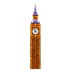 Big Ben tower vector image vector image