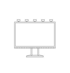 billboard sketch vector image vector image
