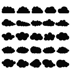 Black clouds vector image vector image