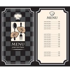 black menus vector image vector image