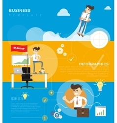 Business template infographic vector image vector image