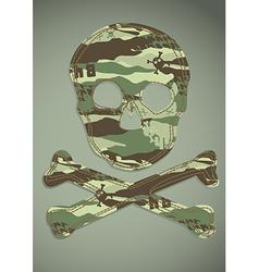 Camouflage skull applique vector
