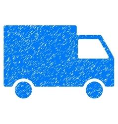 Cargo van grainy texture icon vector